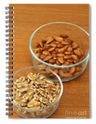 Walnuts And Almonds Spiral Notebook
