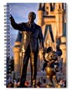 Walt And Mickey Spiral Notebook