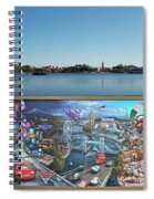 Walt Disney World Cars 2 Digital Art Composite 02 Spiral Notebook