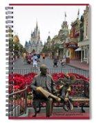 Walt Disney World Transportation 3 Panel Composite 02 Spiral Notebook