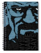 Walter White Heisenberg Breaking Bad Spiral Notebook