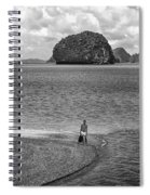 Wandering In Paradise Monochrome Spiral Notebook