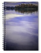 Wanigan View Of Au Sable River Spiral Notebook