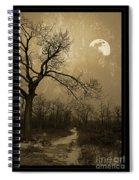 Waning Winter Moon Spiral Notebook