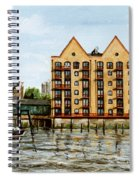 Wapping Thames Police Station And Rebuilt St Johns Wharf London Spiral Notebook