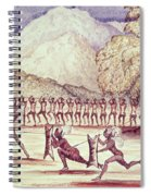 War Dance, Illustration From The Albert Nyanza Great Basin Of The Nile By Sir Samuel Baker, 1866 Wc Spiral Notebook