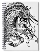 War Horse - Zentangle Spiral Notebook