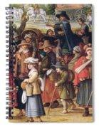 War Scene Oil On Panel Detail Of 242453 Spiral Notebook