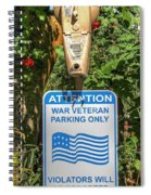 Veteran Parking Sign Spiral Notebook