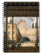 Warehouses Etc At The End Of The Tunnel Spiral Notebook