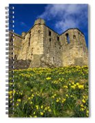 Warkworth Castle In Spring Spiral Notebook