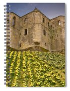 Warkworth Castle In The Sky Spiral Notebook