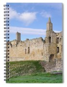 Warkworth Castle Panorama Spiral Notebook