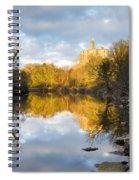 Warkworth Castle Reflected Spiral Notebook
