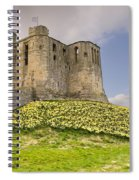 Warkworth Castle With  Daffodils Spiral Notebook