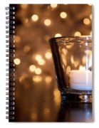Warm Christmas Glow Spiral Notebook