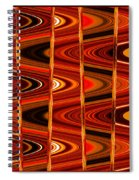Warm Colors Lines And Swirls Abstract Spiral Notebook