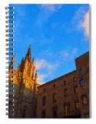 Warm Glow Cathedral - Impressions Of Barcelona Spiral Notebook