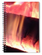Warm Glowing Fire Log Spiral Notebook