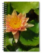 Warm Yellows Oranges And Corals - A Waterlily Impression Spiral Notebook
