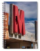 Warning M Rine Spiral Notebook