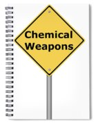 Warning Sign Chemical Weapons Spiral Notebook