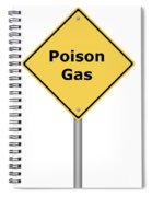 Warning Sign Poison Gas Spiral Notebook