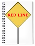 Warning Sign Red Line Spiral Notebook