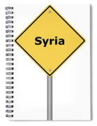 Warning Sign Syria Spiral Notebook
