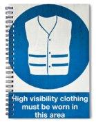 Warning Signs Spiral Notebook