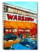 Warshaws Paintings Famous Fruit Store Main Street Montreal Art Prints Originals Commissions Cspandau Spiral Notebook