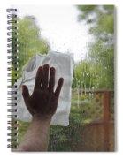 Washing A Window Spiral Notebook