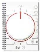 Washing Machine Controls With Symbols Spiral Notebook