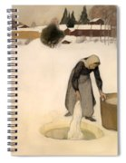 Washing On The Ice Spiral Notebook