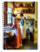 Washing Up After Dinner Spiral Notebook