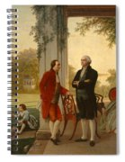 Washington And Lafayette At Mount Vernon Spiral Notebook