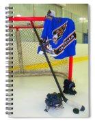 Washington Capitals Blue Away Hockey Jersey Spiral Notebook