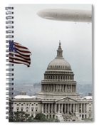 Washington Capitol And Blimp Spiral Notebook