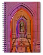Washington Cathedral Light Show Spiral Notebook