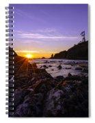Washington Coast Sunset Dusk Spiral Notebook