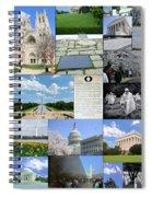 Washington D. C. Collage  Spiral Notebook