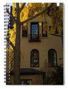 Washington D C Facades - Dupont Circle Neighborhood In Yellow Spiral Notebook