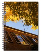 Washington D C Facades - Reflecting On Autumn In Georgetown  Spiral Notebook