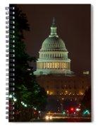 Washington Dc At Night Spiral Notebook