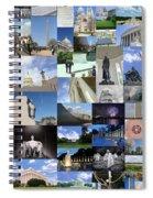 Washington D. C. Collage 3 Spiral Notebook