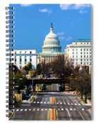 Washington D.c. - Elevated View Spiral Notebook