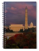 Washington Dc Iconic Landmarks Spiral Notebook