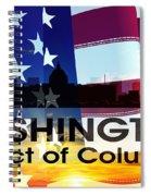 Washington Dc Patriotic Large Cityscape Spiral Notebook
