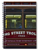 Washington Dc Trolley Spiral Notebook