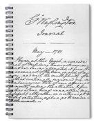 Washington: Journal, 1781 Spiral Notebook